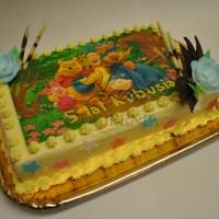 tort kubus puchatek i przyjaciele