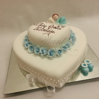 tort na chrzciny serce