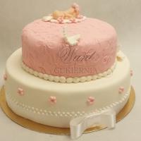 tort na chrzciny pietrowy