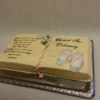 tort na chrzest ksiega