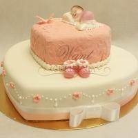tort na chrzciny serce pietrowy
